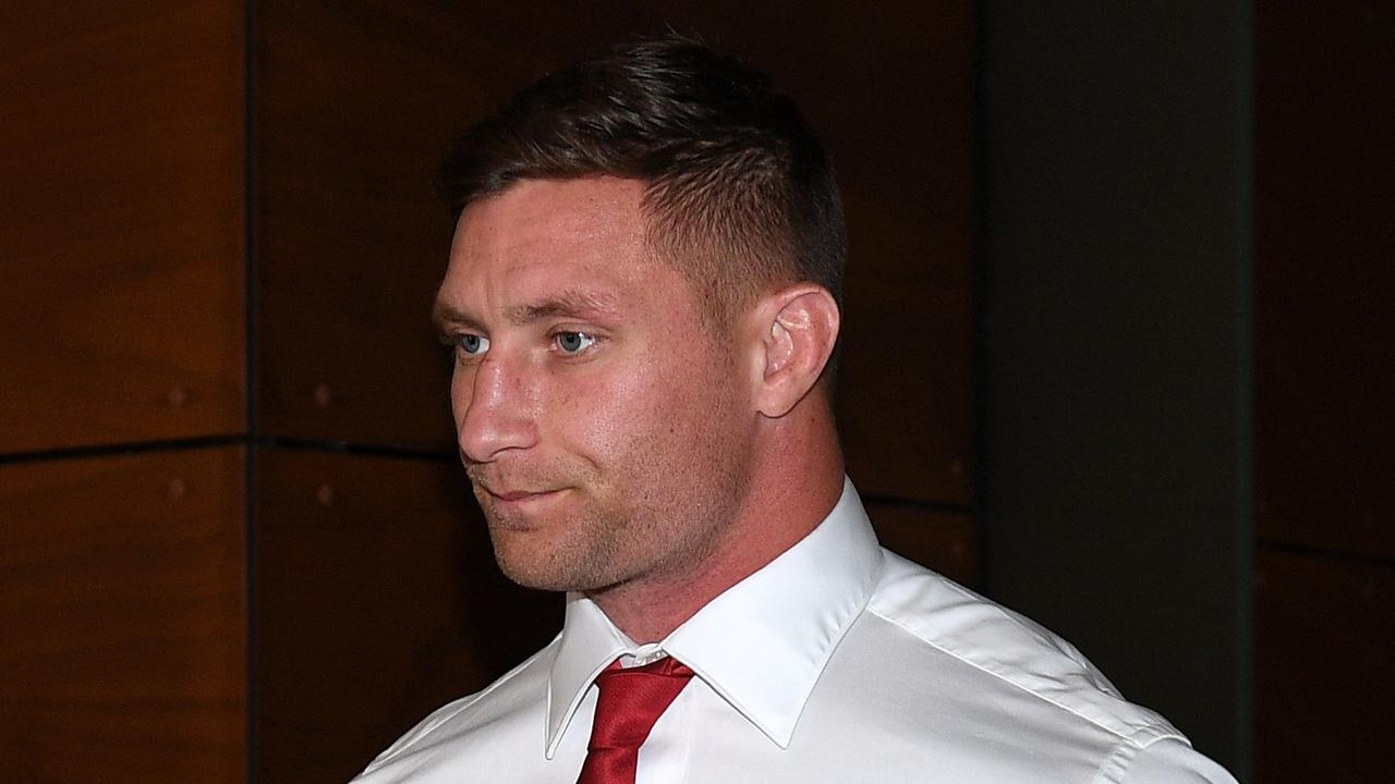 St George Illawarra Dragons player Tariq Sims leaves the judiciary