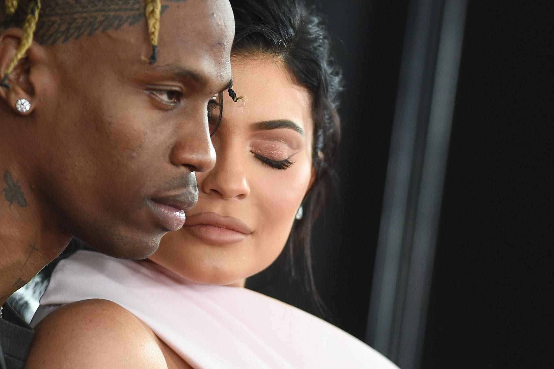 TV personality Kylie Jenner and Travis Scott arrive for the 61st Annual Grammy Awards on February 10, 2019, in Los Angeles. Image credit: AFP