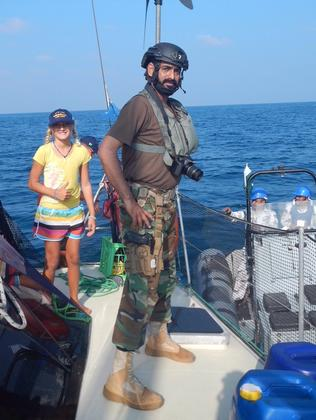 A naval officer who boarded the Turner's catamaran during the rescue and gave the family extra fuel.