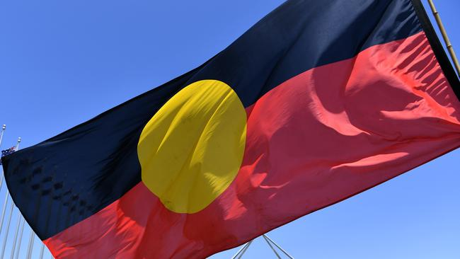The Aboriginal flag can no longer be flown an Anzac or Remembrance Day ceremonies at WA RSLs. Picture: Mick Tsikas/AAP