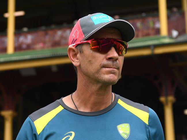 Australian coach Justin Langer in January