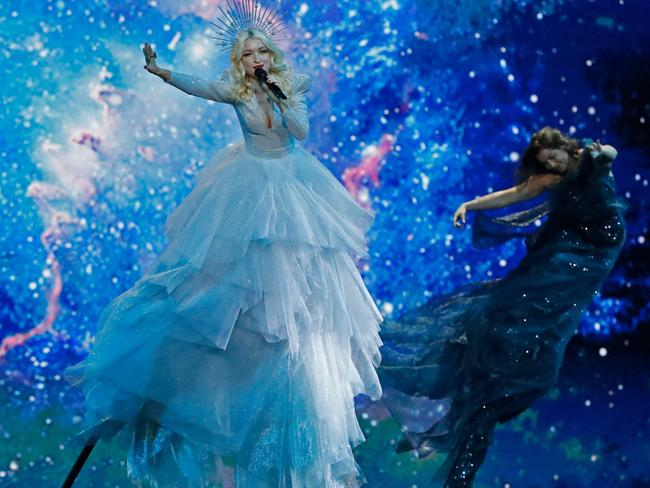 Kate Miller-Heidke is seriously impressing at Eurovision. Picture: AFP