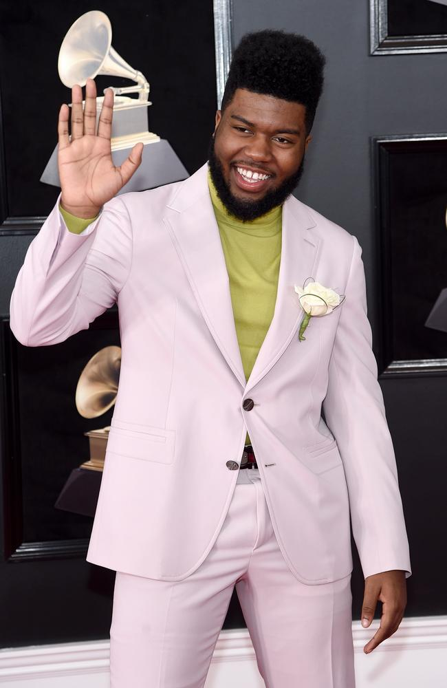Khalid attends the 60th Annual GRAMMY Awards. Picture: Getty