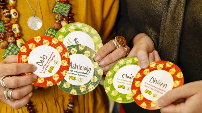 Dinner plate tokens for Woolworths OzHarvest Christmas Appeal. Picture: supplied.
