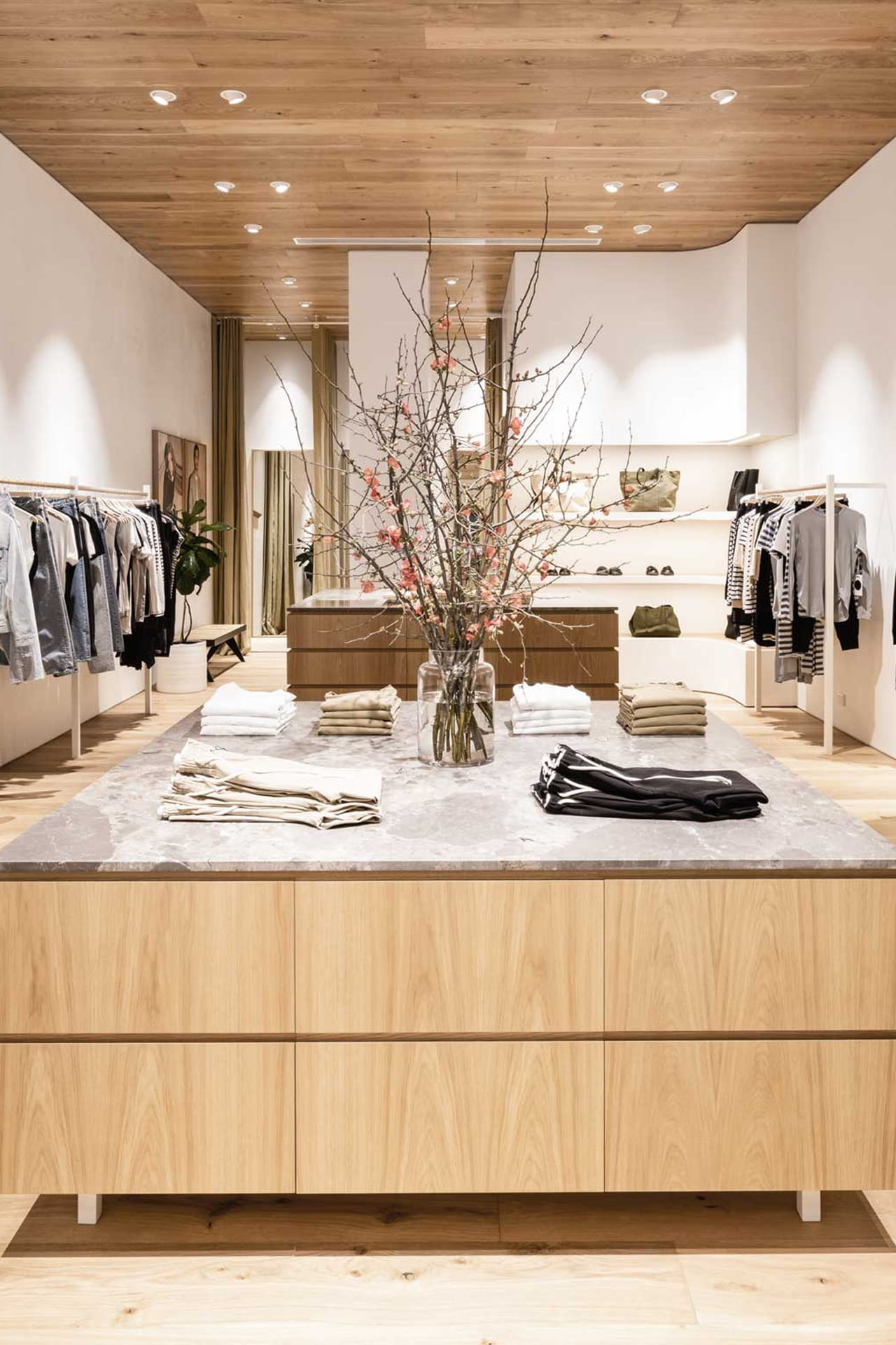 Inside Bassike's new Melbourne Emporium store. Image credit: Supplied