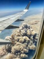 Matt Hope was on a flight from Sydney to Brisbane on Friday 08 November 2019, and captured this image of the fires on the New South Wales Mid North Coast. Picture: Matt Hope