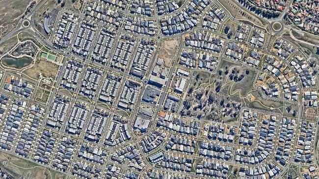 How the suburb had changed by May 2015. Picture: nearmap.com