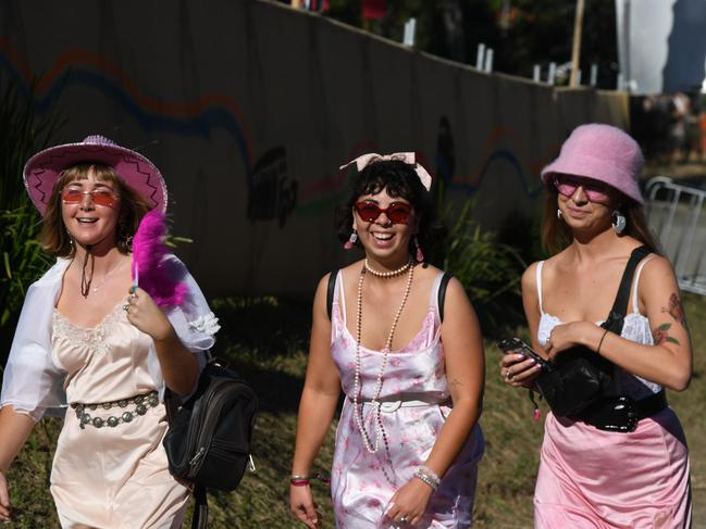 Having fun walking between stages at Splendour in the Grass 2019.