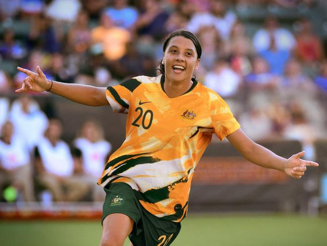 Sam Kerr will be looking to lead the Aussies to glory.