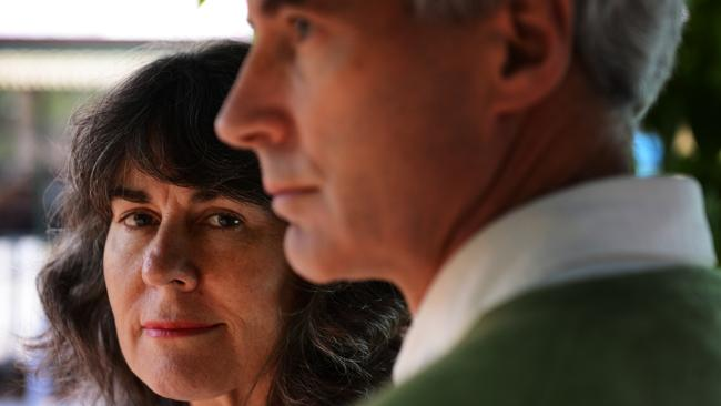 Christine and Anthony Foster want justice for all people abused by the Catholic Church. Picture: News Limited