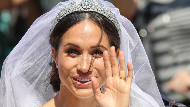 Hands up who wants Meghan Markle's freckles? Picture: Getty