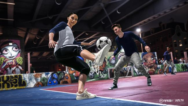 FIFA's popular street mode has been revamped in the new game.