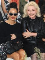 Zoe Kravitz and Debbie Harry attend the Coach Women's Spring 2016 fashion show during New York Fashion Week. Picture: Getty