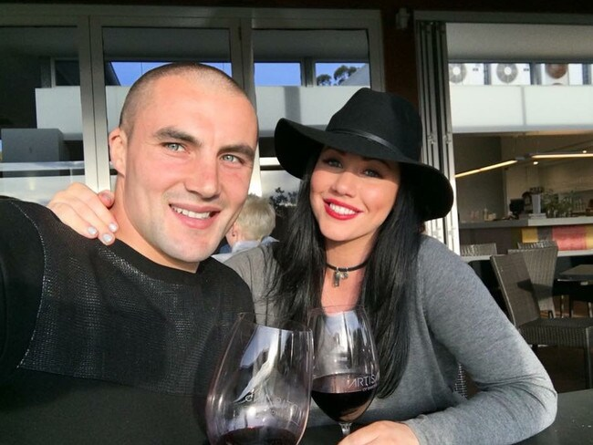 Sophie with her husband, former AFL and Norwood player Jaryd Cachia. Picture: Supplied