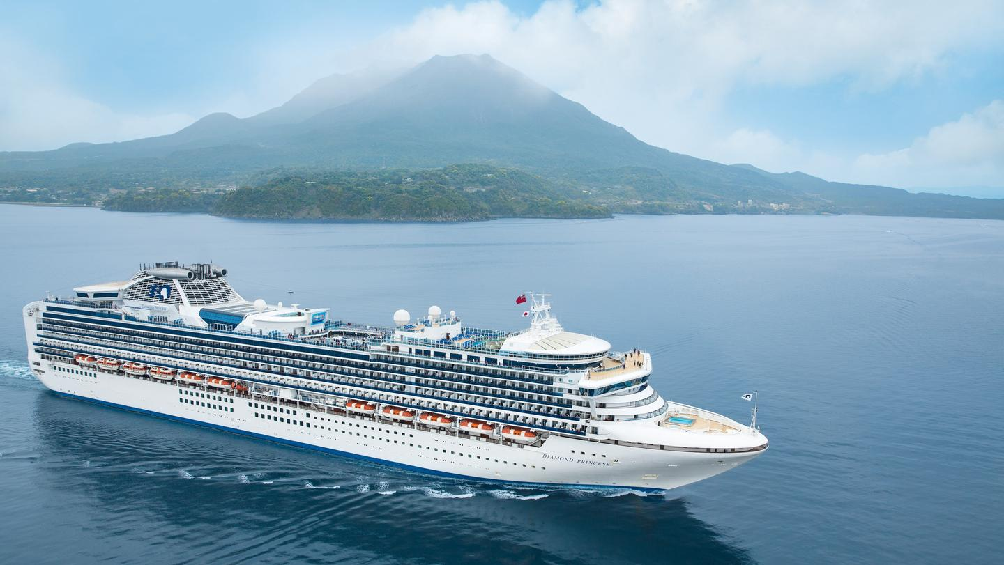 Diamond Princess heads north to Japan\'s Hokkaido