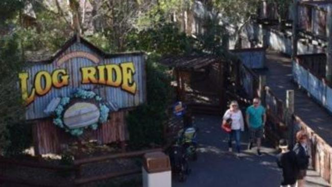 Dreamworld's log ride was shut in April after a man almost died on the ride. Picture: Supplied