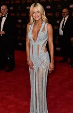 Jessie Habermann arrives at the 2016 Brownlow Medal Count.