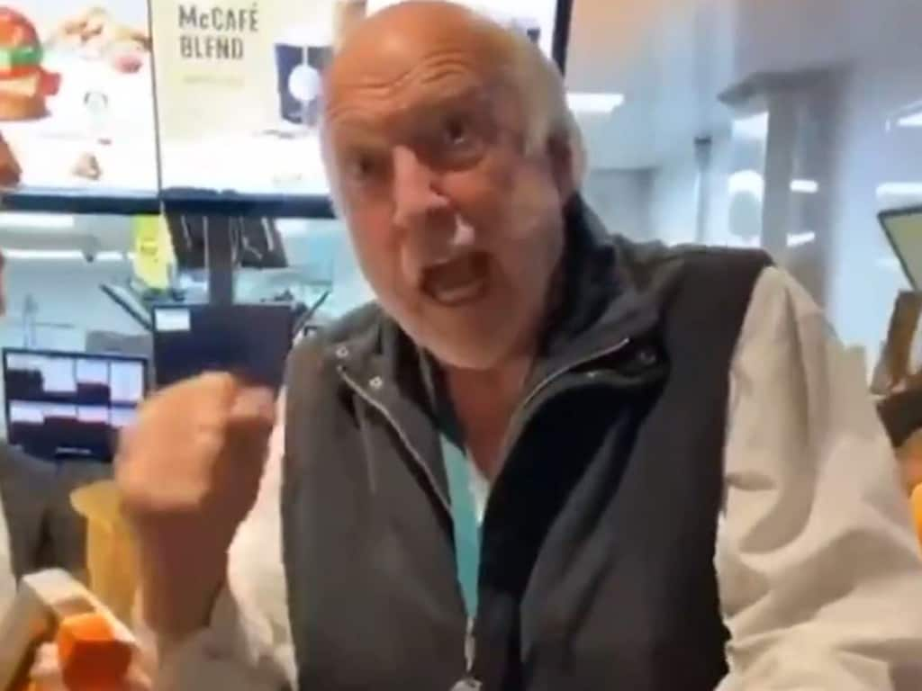 Rex Hunt was in fine form at a local McDonald's. Picture: @GeelongCats
