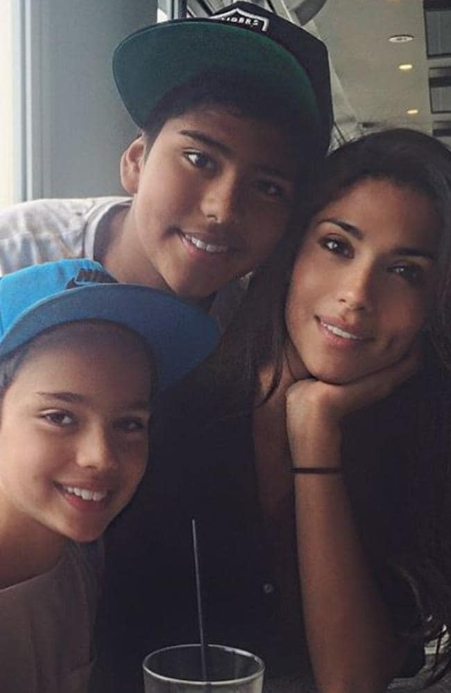 Miller admits she's a strict mum to sons, Lennox, 10 (left) and Isaiah, 13. Picture: Supplied/Instagram