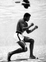 Muhammad Ali shadow boxes underwater while training in Miami, Florida in 1961. Picture: Flip Schulke