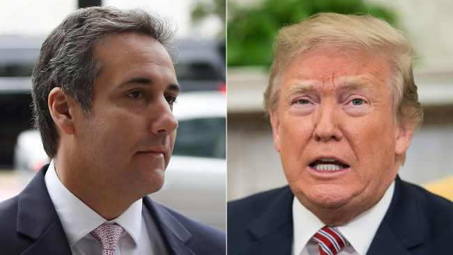 Michael Cohen, President Trump's personal lawyer and the US president in April. Photo: AFP / Getty