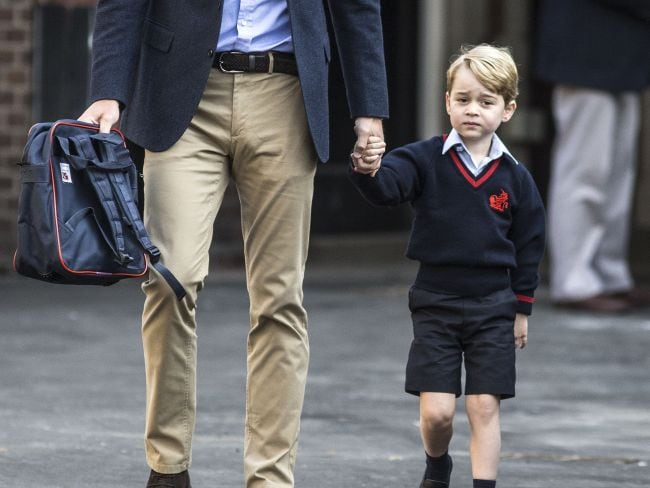 A big day for Britain's Prince George. Photo: AFP / Richard Pohle
