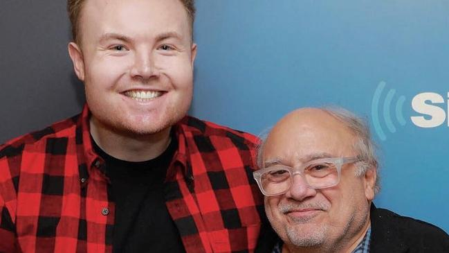 Ben Harlum with Danny DeVito at SiriusXM.