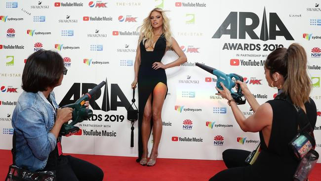 Sophie Monk and team. Picture: Mark Metcalfe/Getty Images)