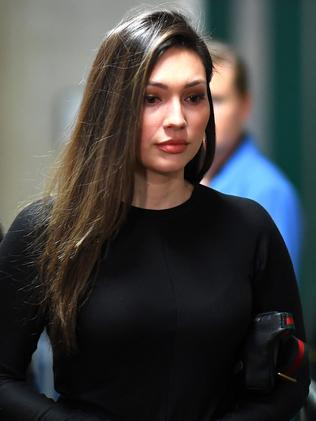 Former Actress Jessica Mann is a key witness for the prosecution. Picture: Johannes Eisele/AFP
