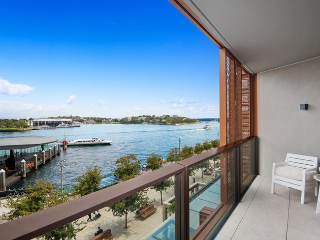 The view from 203/19 Barangaroo Ave, an apartment Ms Guttman is selling.