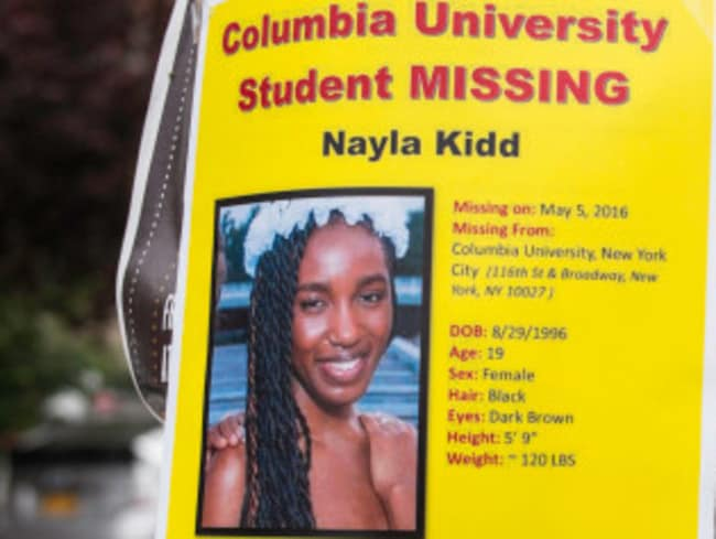 Nayla's friends and family launched a frantic search after she left her home. Picture: J.C. Rice