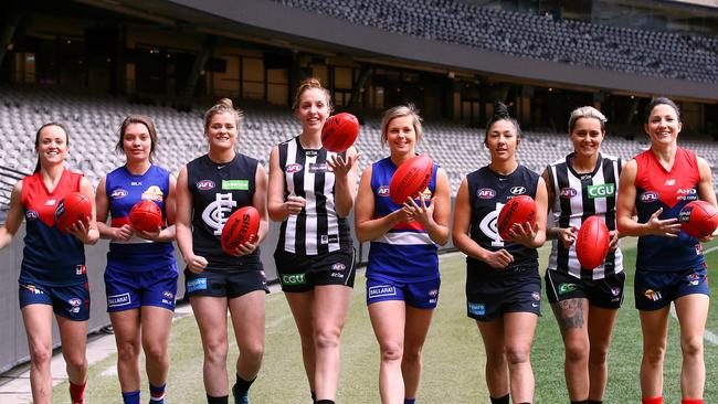 Marquee players from Melbourne, Collingwood, Carlton and Western Bulldogs. Picture: Wayne Ludbey