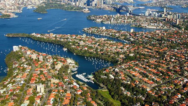 Mosman was the most popular suburb for buyers east of the CBD. Picture: airviewonline.com.au