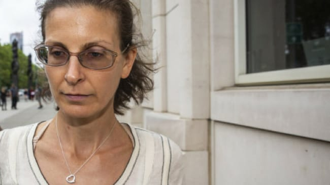 Clare Bronfman leaves the Federal Courthouse in Brooklyn. Natan Dvi