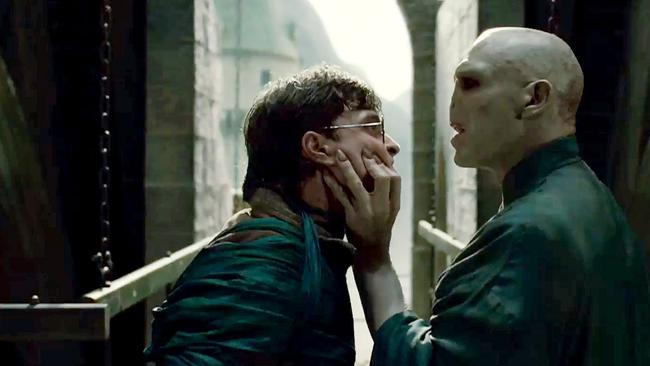Harry and Lord Voldemort having a little disagreement.