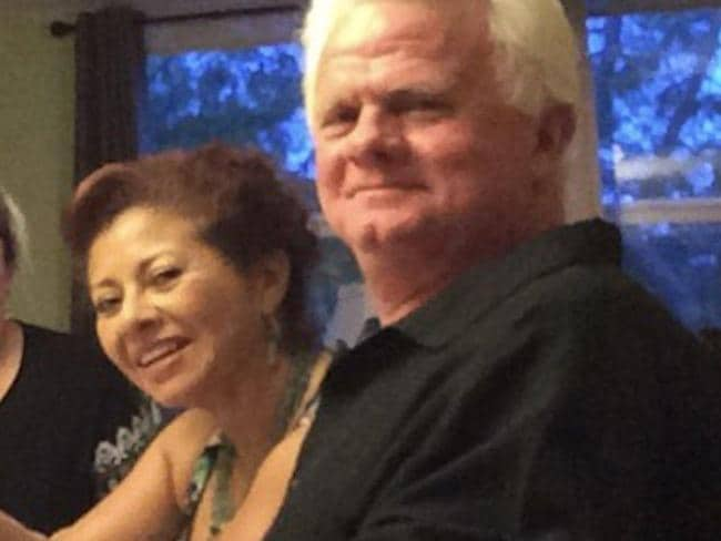 Richard Henry Patterson, 65, and the girlfriend he's accused of murdering, Francisca Marquinez, 60, in happier times.