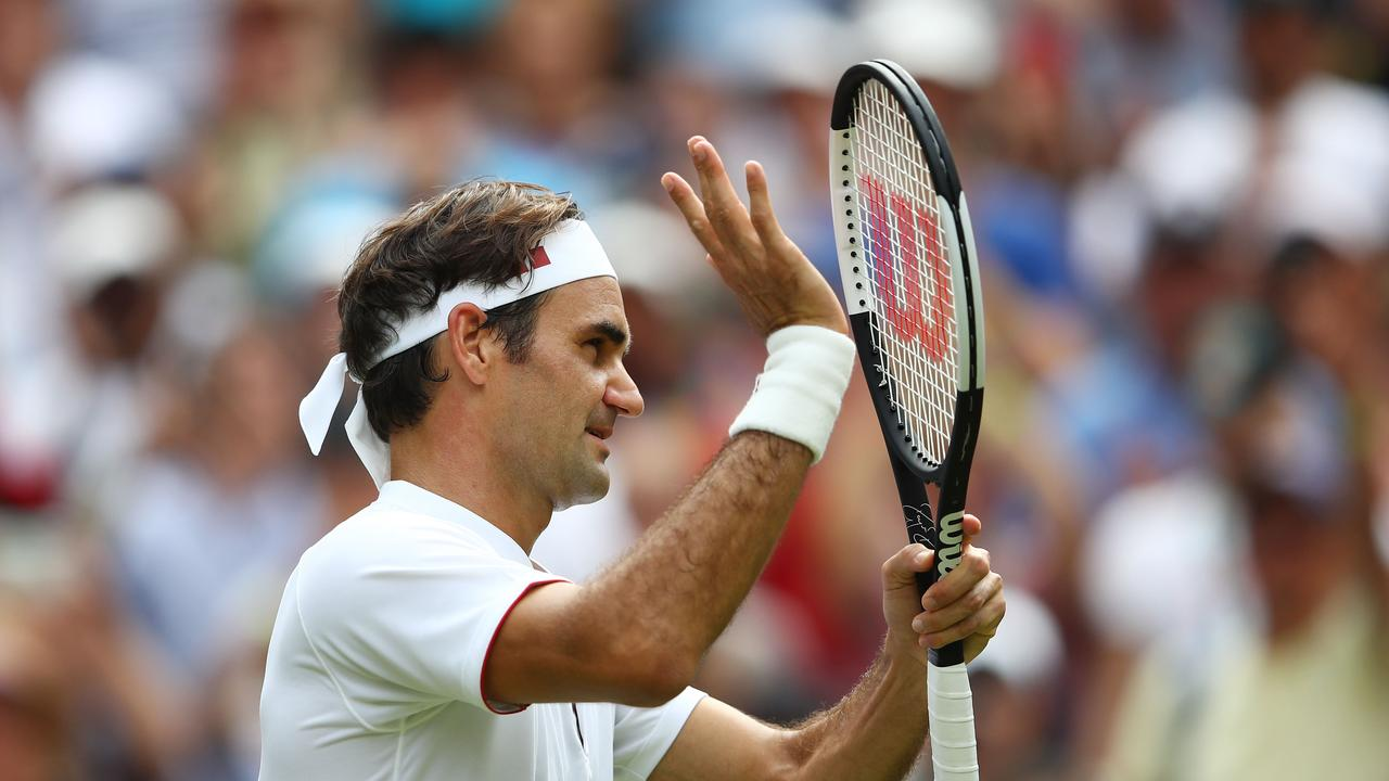 Federer is looking in impressive form in his title defence.
