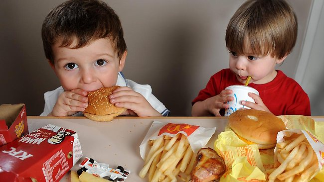 Parents Children In Fast Food