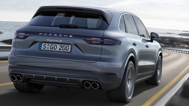 The new Cayenne is bigger and fits more in the load area. Pic: Supplied.