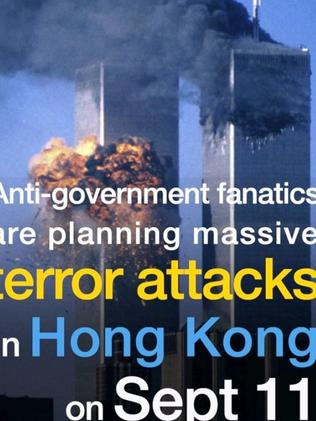A doctored image shared on the China Daily Facebook page. Picture: China Daily/Facebook