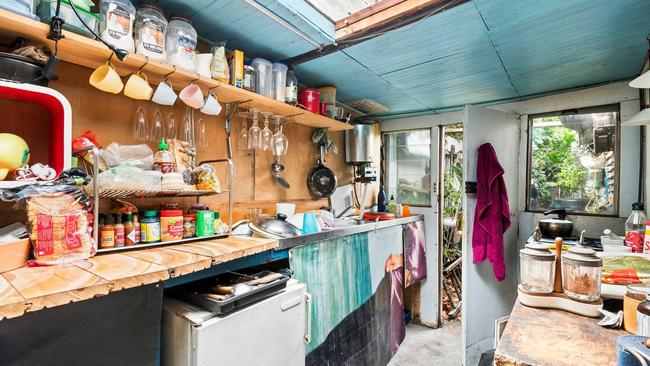 The West Melbourne house has an outdoor kitchen.