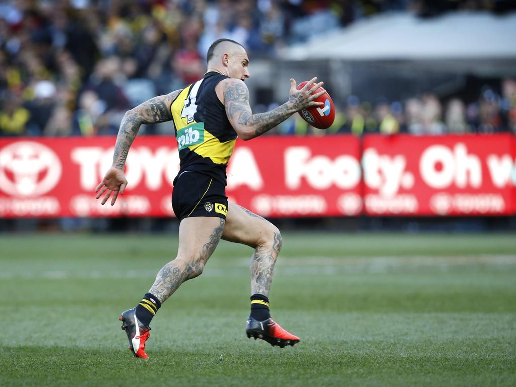 Dustin Martin will be the No. 1 target for SuperCoaches in 2020 after being awarded Dual Position Status between MID / FWD.