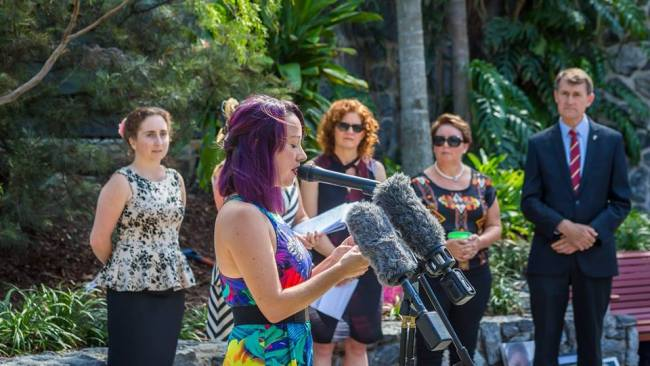Jas Rawlinson opening Brisbane's First DV Memorial in 2016. Photo: Supplied