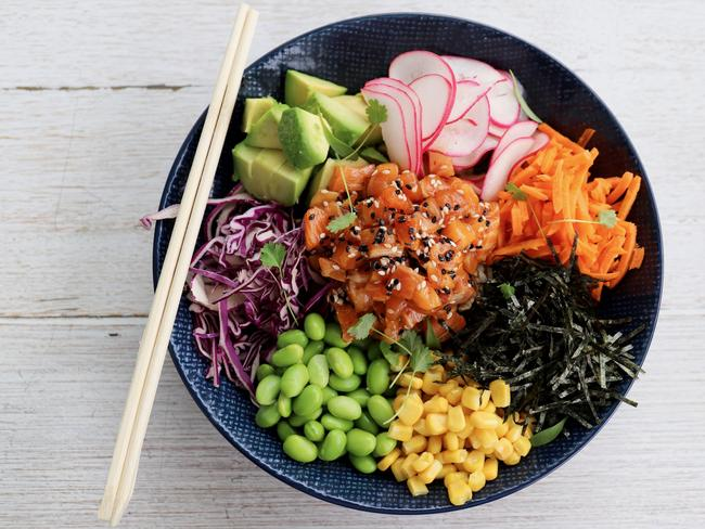 Let's break down your lunchtime poke bowl.