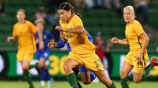 Samantha Kerr wasn't on the scoresheet this time. (Paul Kane/Getty Images)