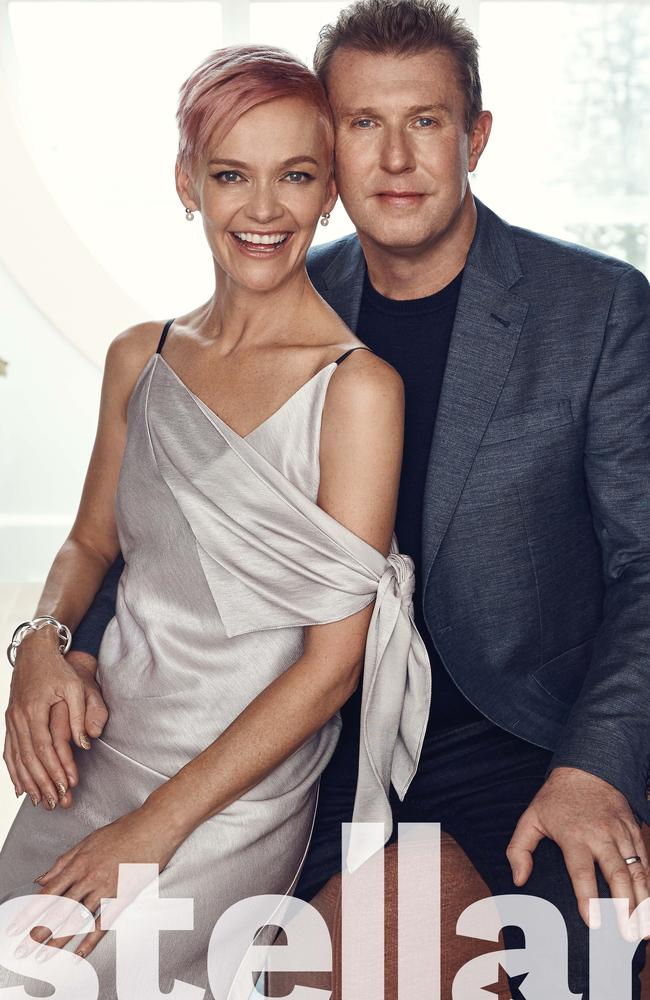 Peter Overton and Jessica Rowe open up about his recent health scare. Picture: Damian Bennett