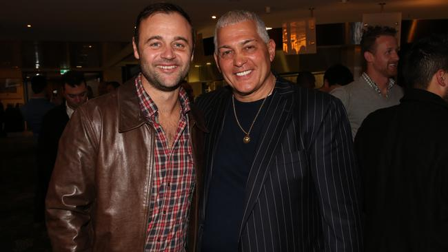 Gyton Grantley and Mick Gatto at the EJ Whitten Poker Tournament. Picture: Rosanna Faraci
