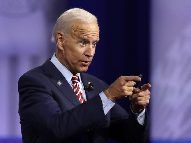 Democratic presidential candidate and former Vice President Joe Biden. Picture: AP