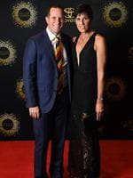 Head coach Don Pyke with wife Jodie. Photo: Tom Huntley