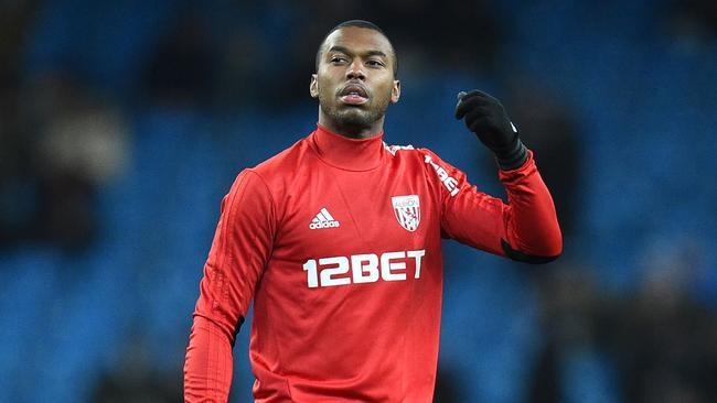 West Bromwich Albion's English striker Daniel Sturridge